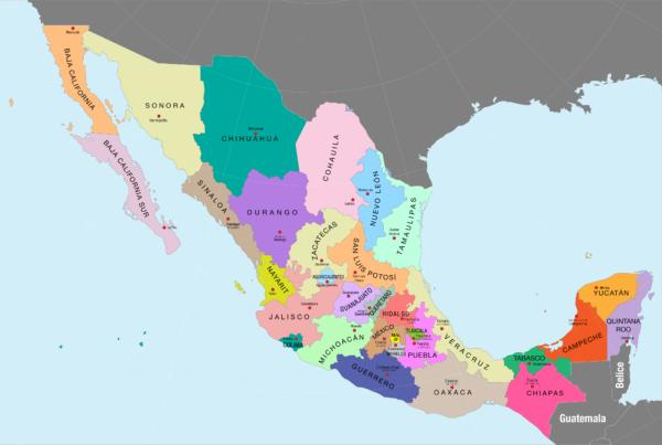 mapa_polc3adtico_de_mc3a9xico_a_color_nombres_de_estados_y_capitales1